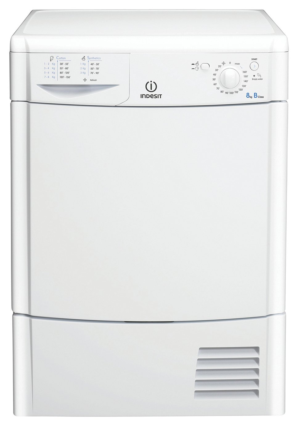 Indesit - IDC8T3B 8KG Condenser - Tumble Dryer - White