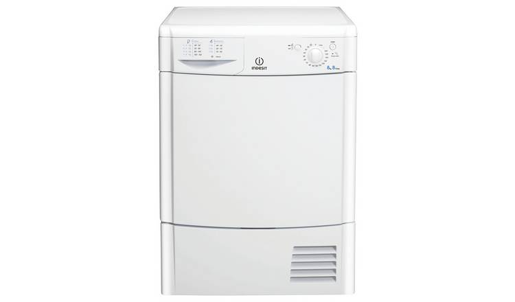 Indesit IDC8T3B 8KG Condenser Tumble Dryer - White