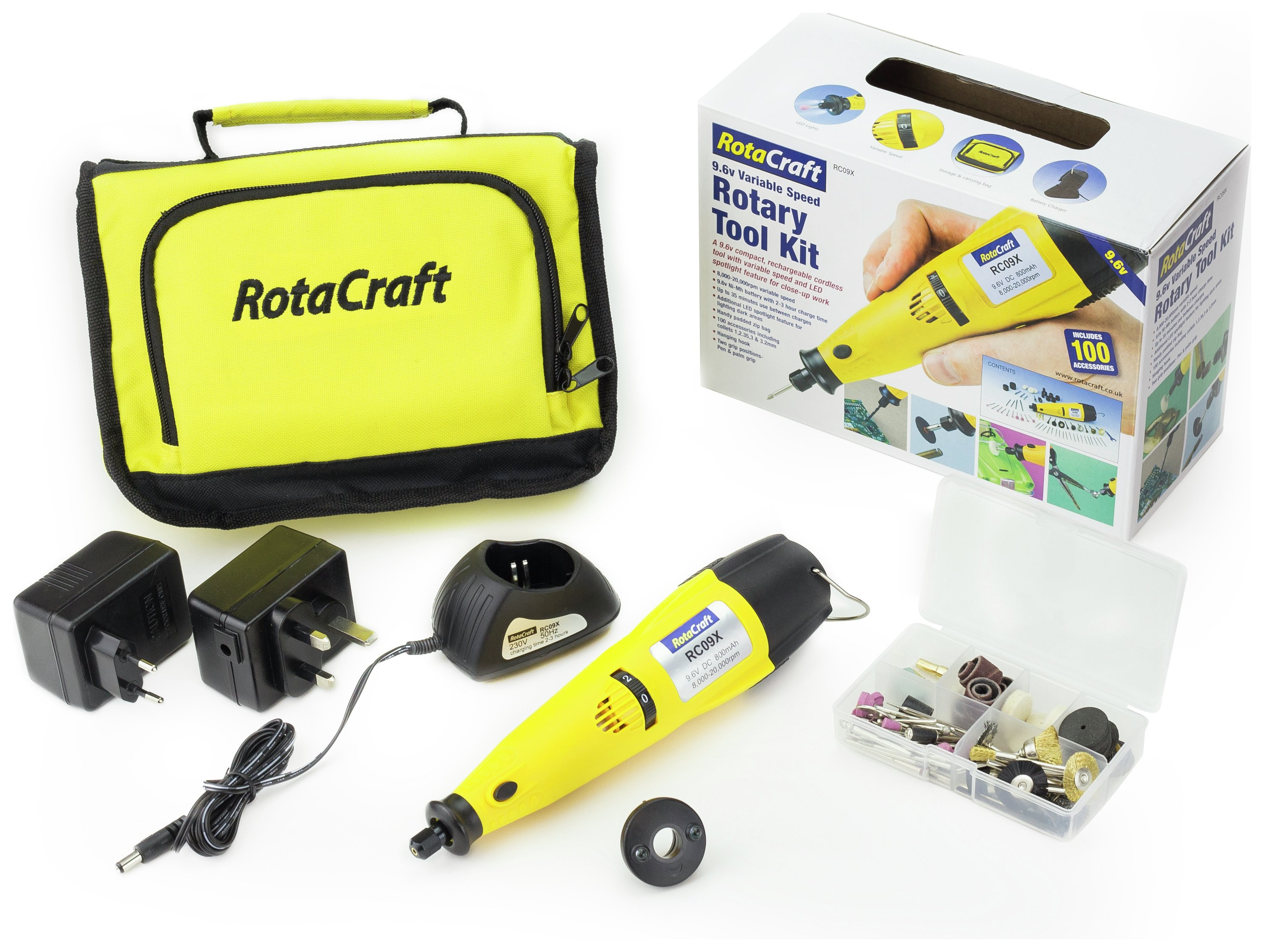 Rotacraft 9.6V Variable Speed Rotary Tool Kit. lowest price