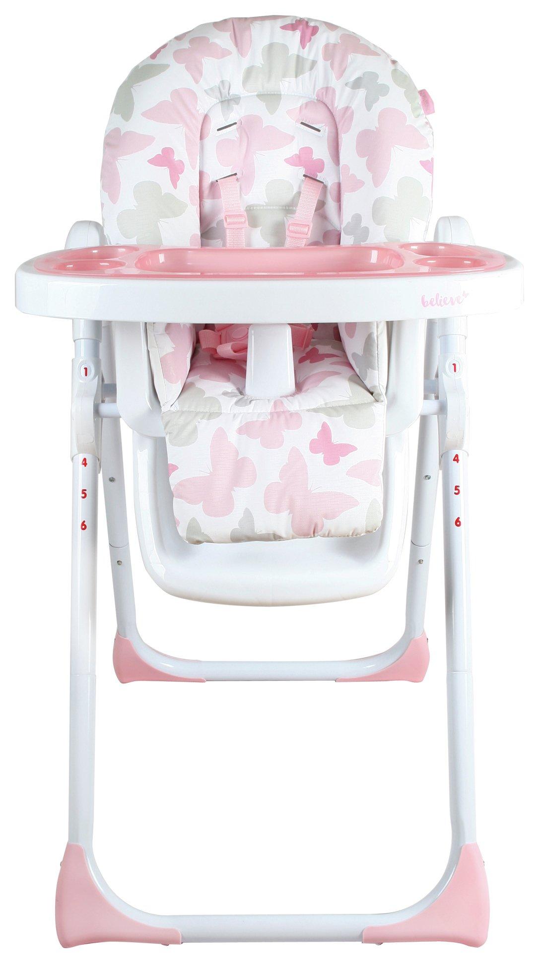 My Babiie Katie Piper MBHC8BU Pink Butterfly Highchair