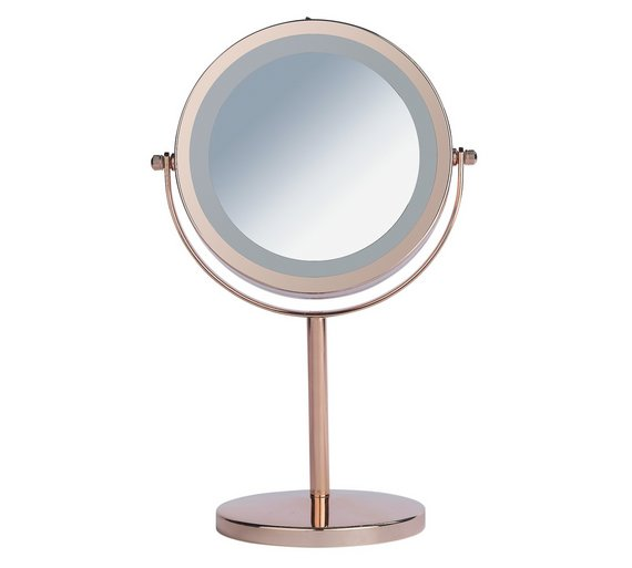 buy danielle creations rose gold finish light up mirror at. Black Bedroom Furniture Sets. Home Design Ideas