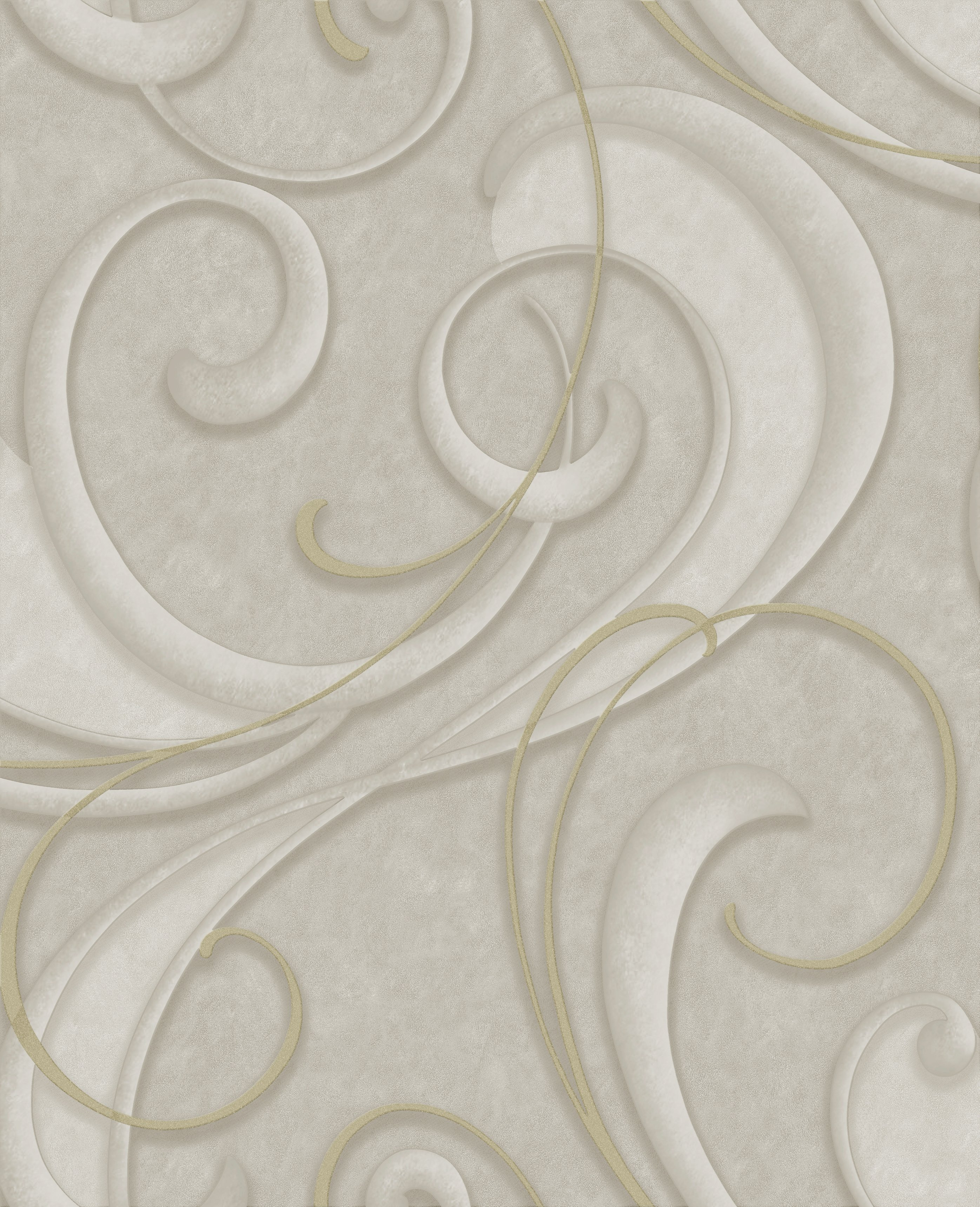 Image of Graham & Brown Flamenco Wallpaper - Taupe & Champagne.