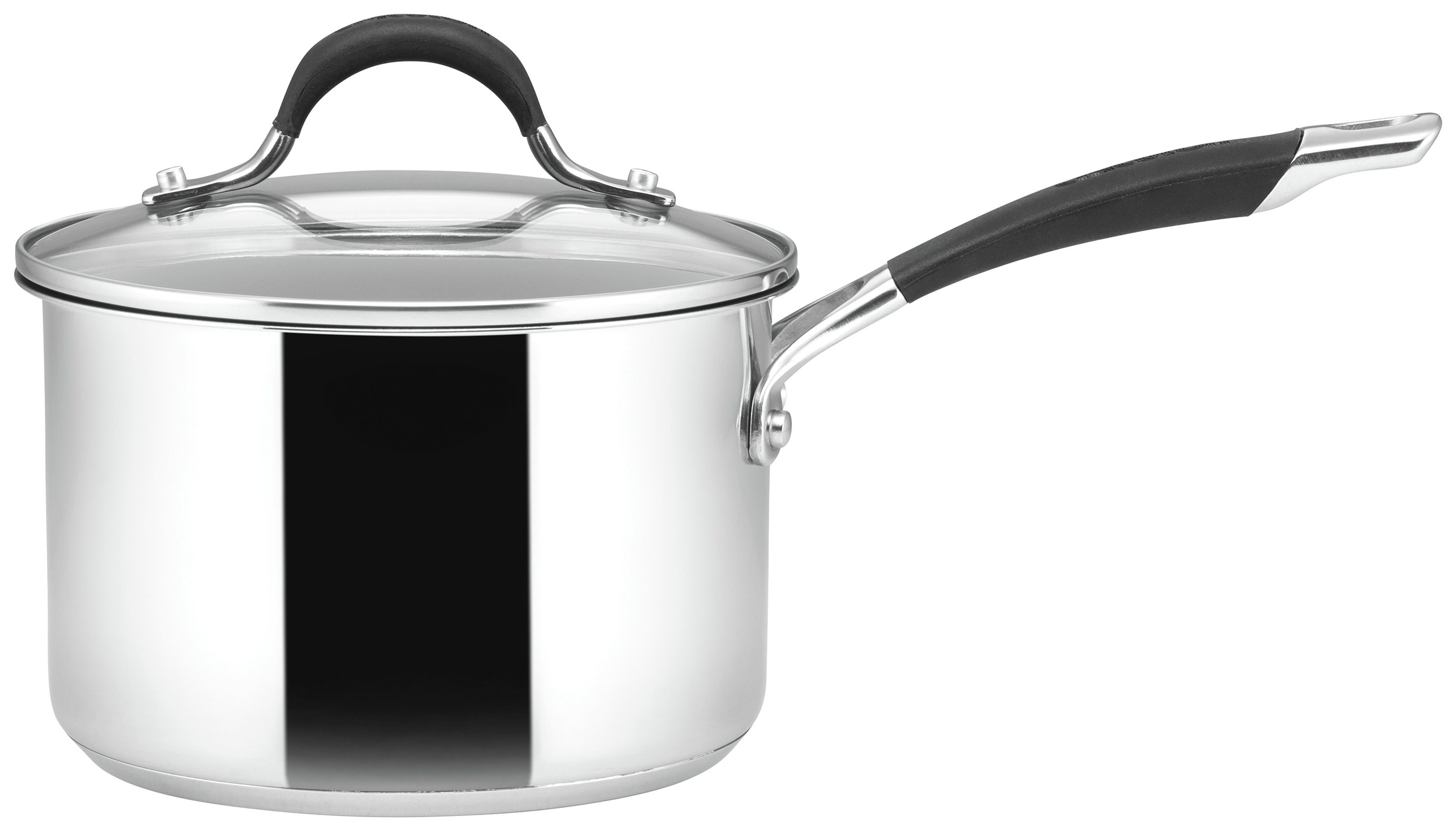 Image of Circulon Momentum 16cm Stainless Steel Covered Saucepan.