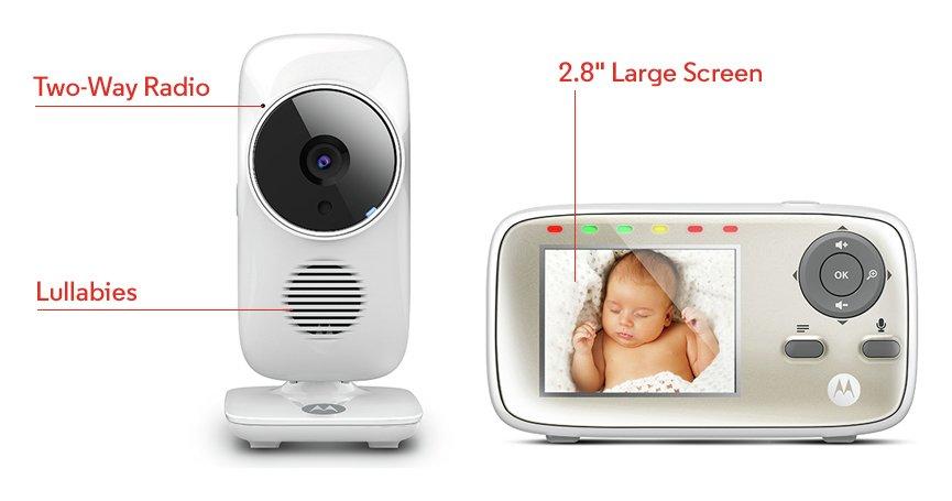 Image of Motorola MBP483 Video Monitor & Babysense Sensor Pads.