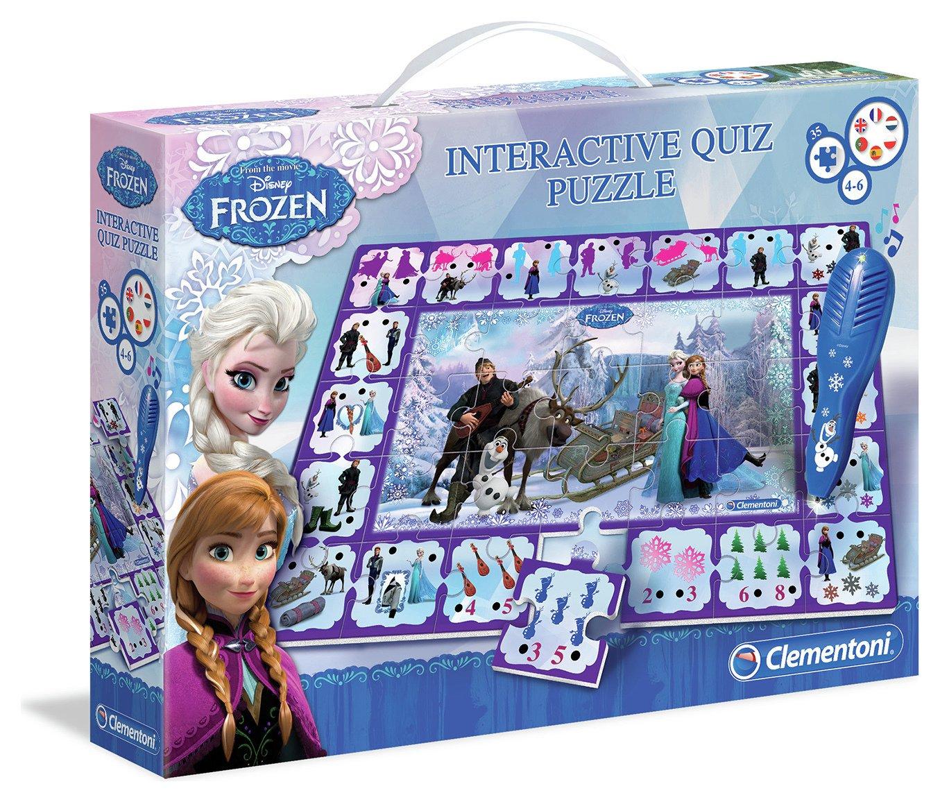 Image of Clementoni Disney Frozen Interactive Quiz Puzzle.