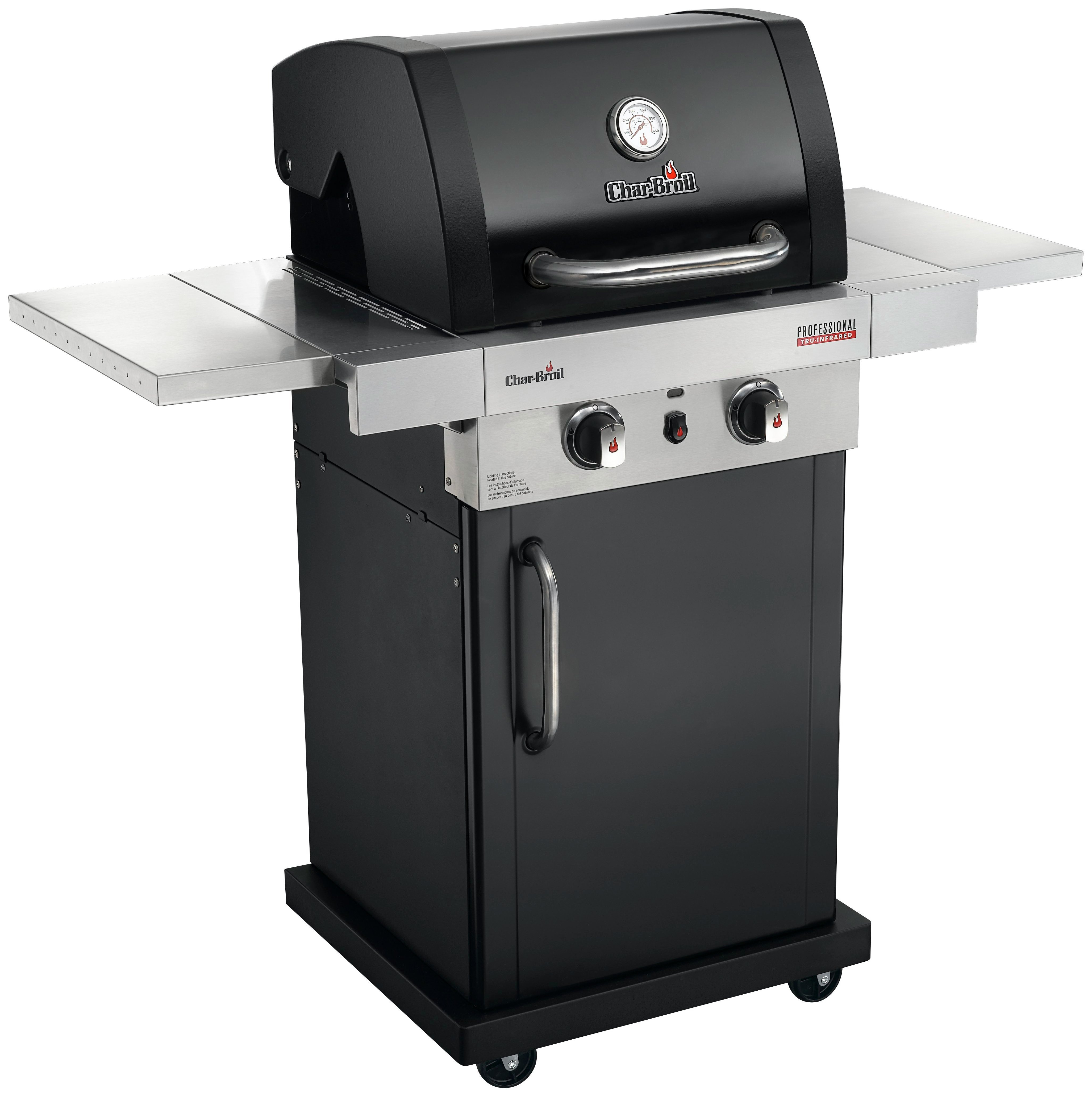 Image of Char-Broil PRO 2200 B - 2 Burner Gas BBQ Stainless Steel