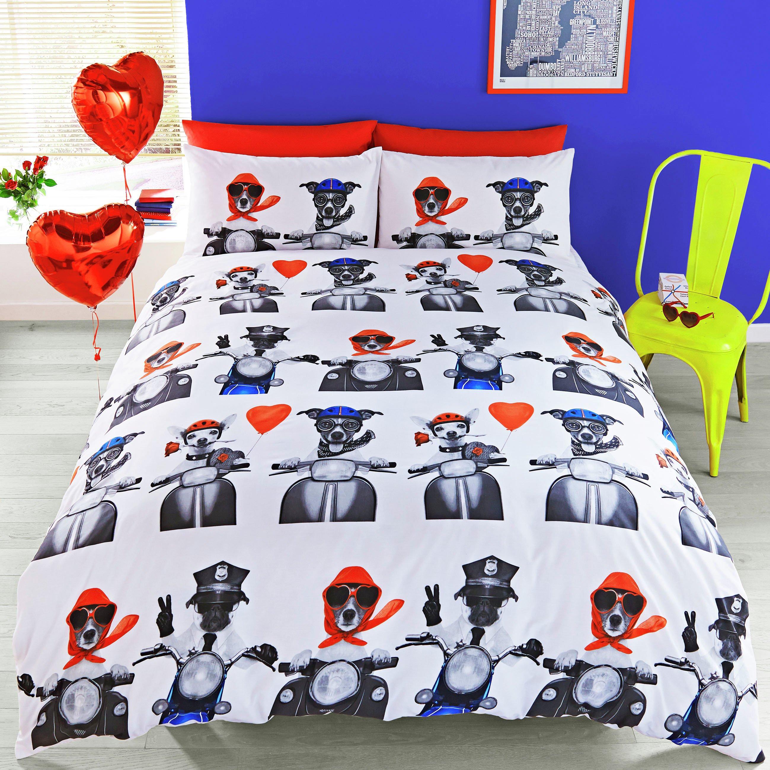 hashtag bedding day trip multicolour bedding set  kingsize.