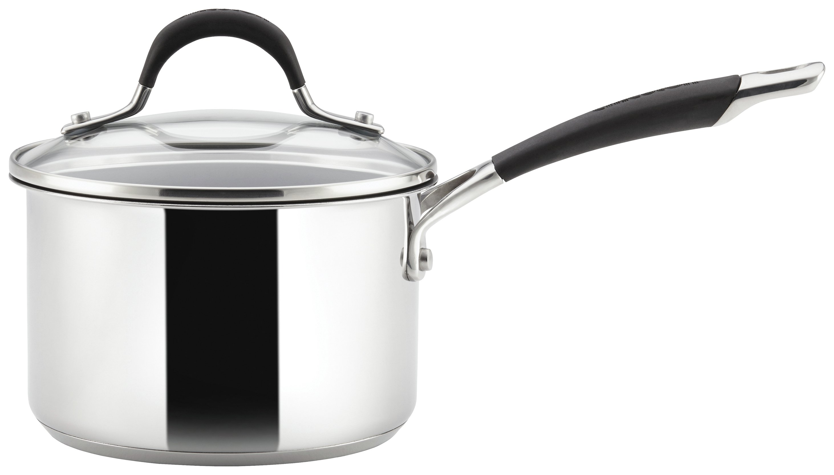 Image of Circulon Momentum 18cm Stainless Steel Covered Saucepan.