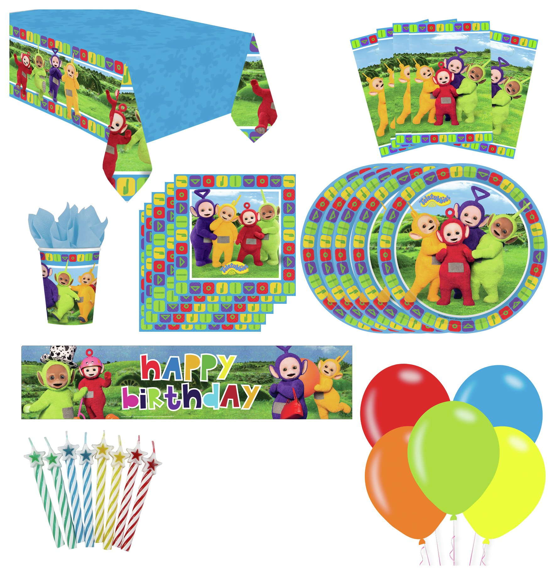 Image of DHX Media Teletubbies Party Pack for 16 Guests