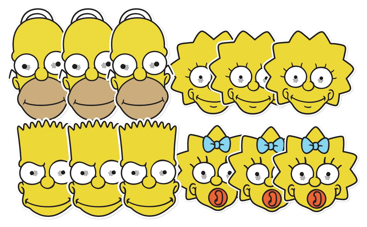 Image of Springfield - The Simpsons - 12 Pack Masks