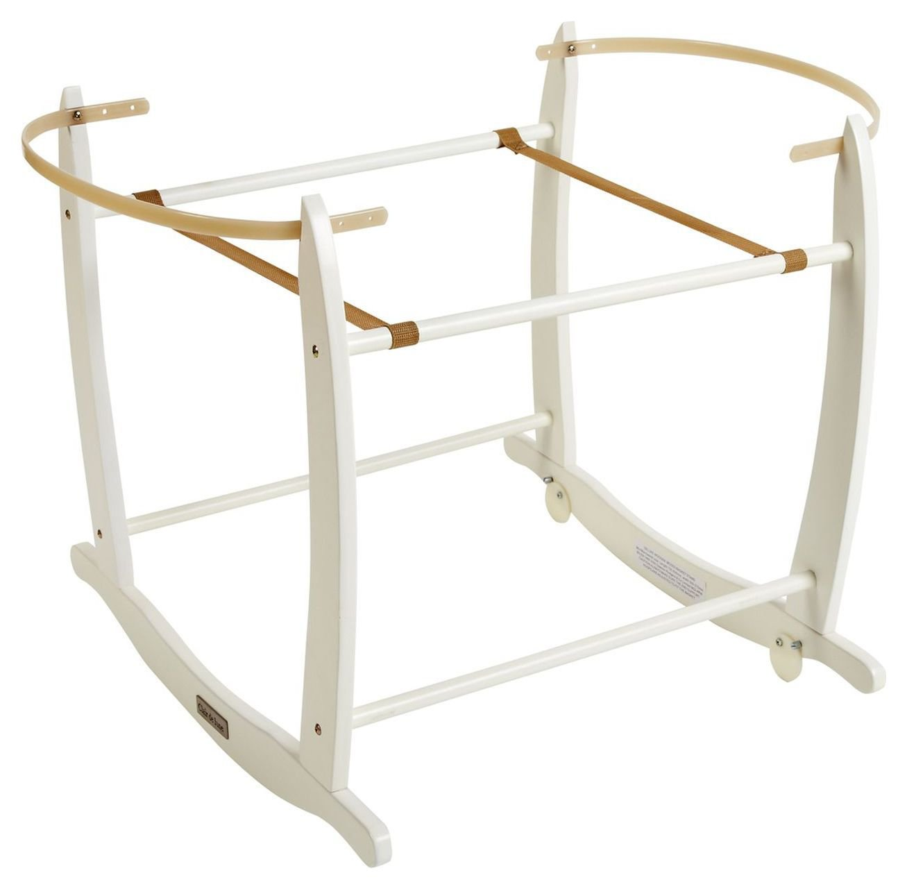 Clair De Lune White Deluxe Rocking Moses Basket Stand