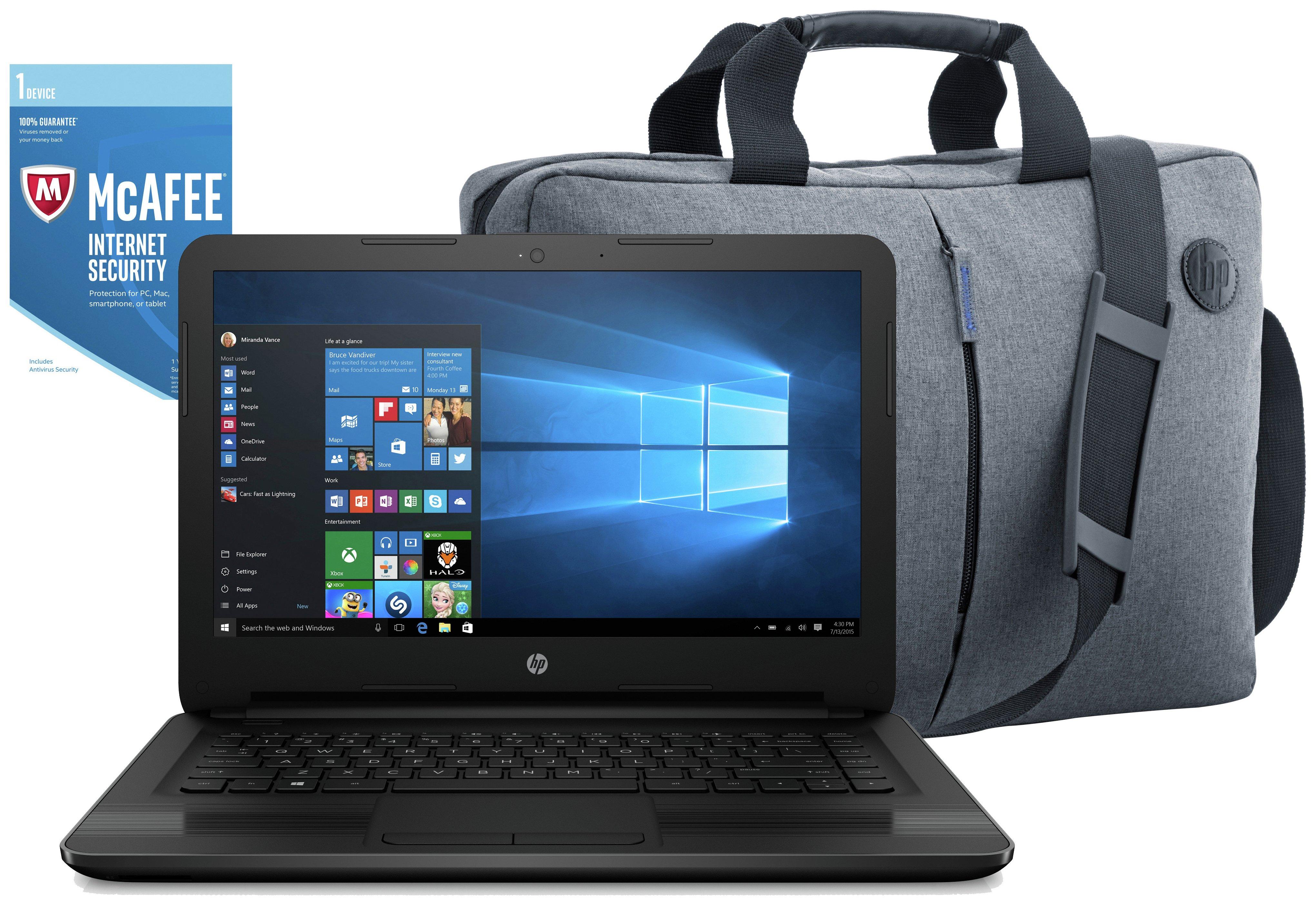 HP 14 Inch Intel Pentium 8GB 2TB Laptop Black - Bag & McAfee