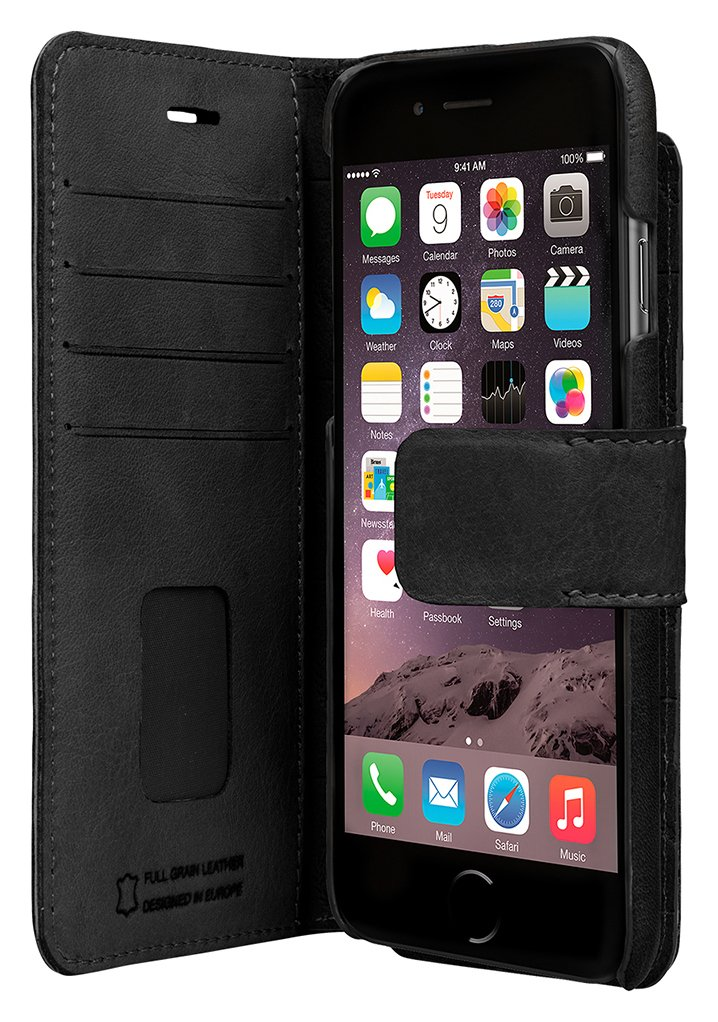 Image of Bugatti 2-in-1 - for - iPhone - 7 Leather - Case - Black