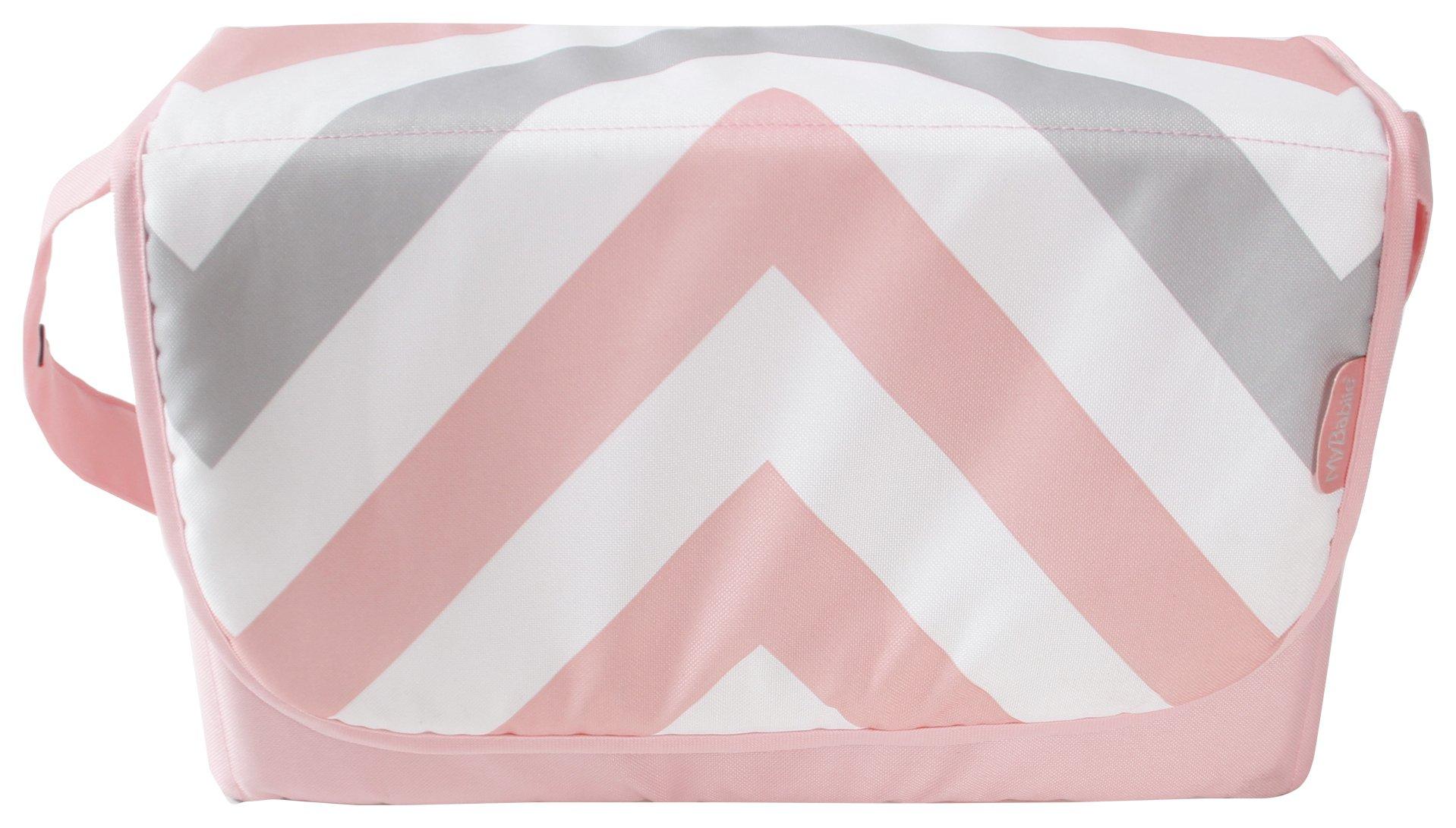My Babiie Pink Chevron Baby Changing Bag.