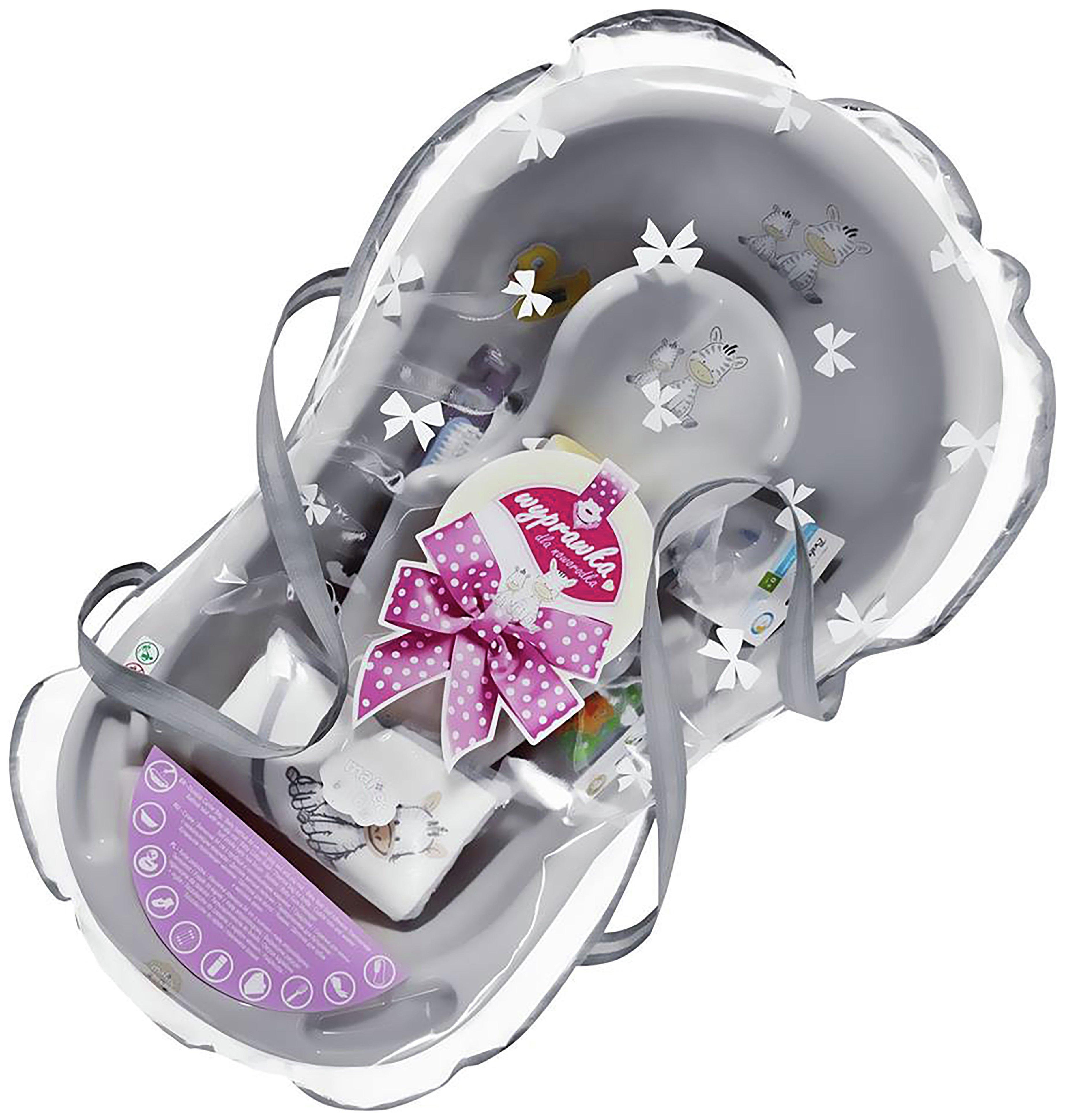maltex zebra grey baby bath tub gift set 84cm review. Black Bedroom Furniture Sets. Home Design Ideas