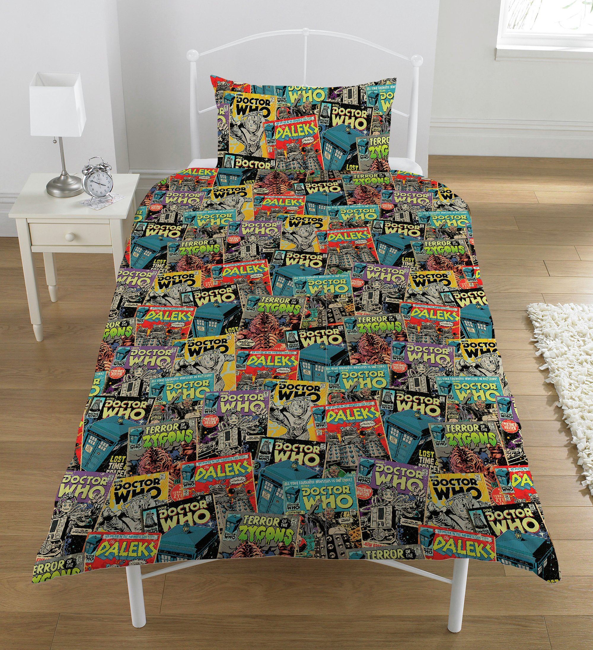 Image of Dr Who Comic Bedding Set - Single.