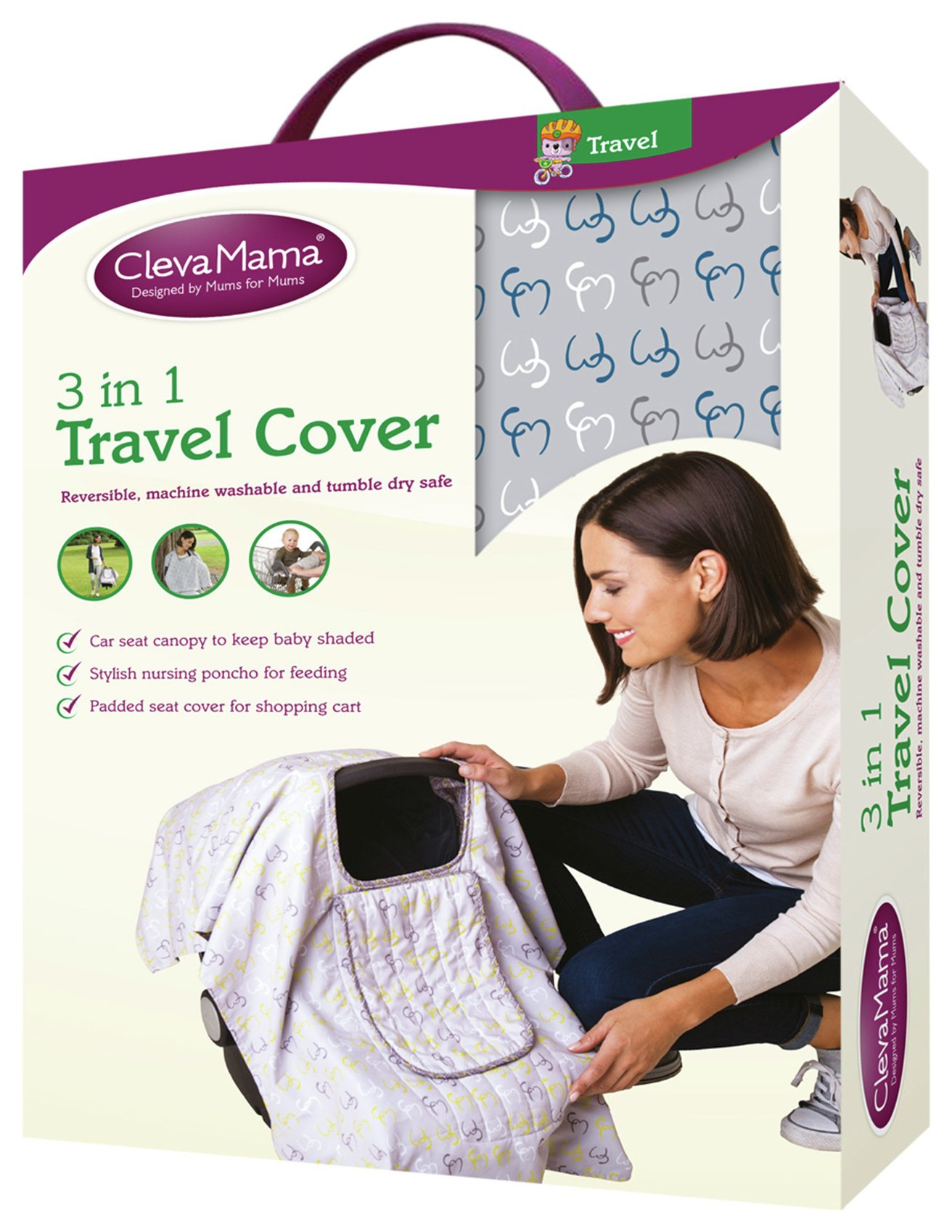 Image of Clevamama 3 in 1 Travel Cover - Capri.