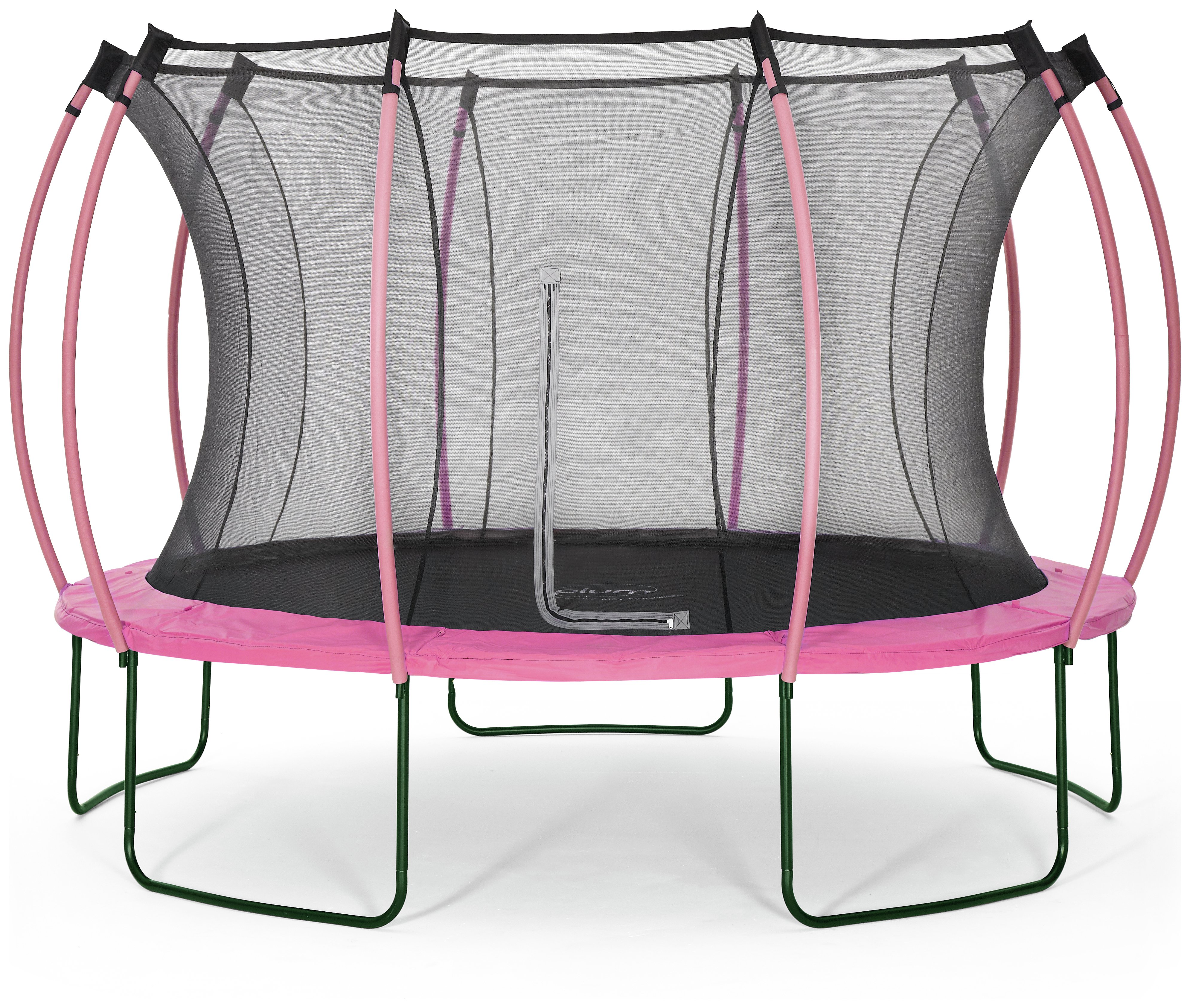 colours by plum 12ft trampoline  pink/ turquoise.