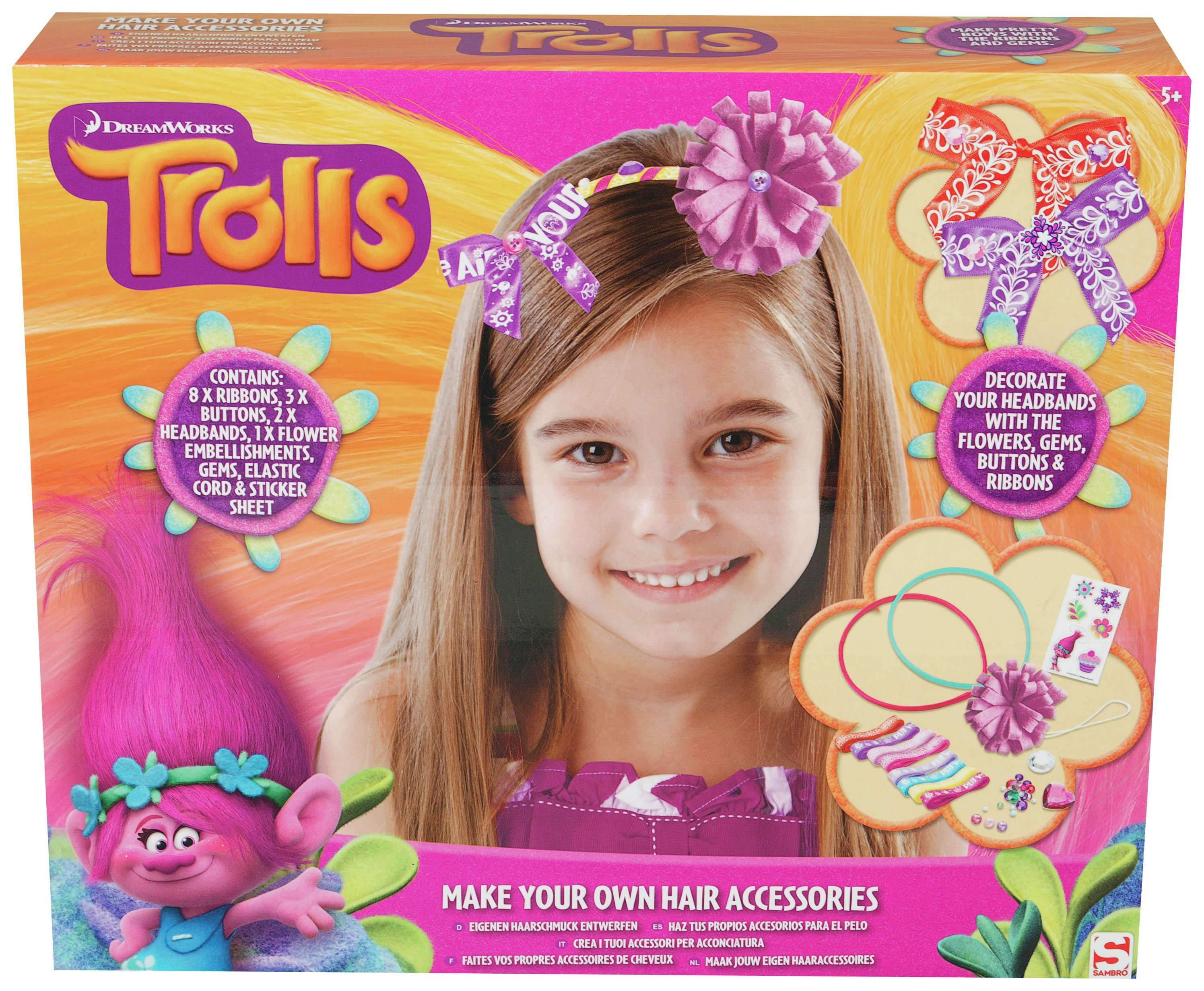 Image of Trolls Make Your Own Hair Accessories.