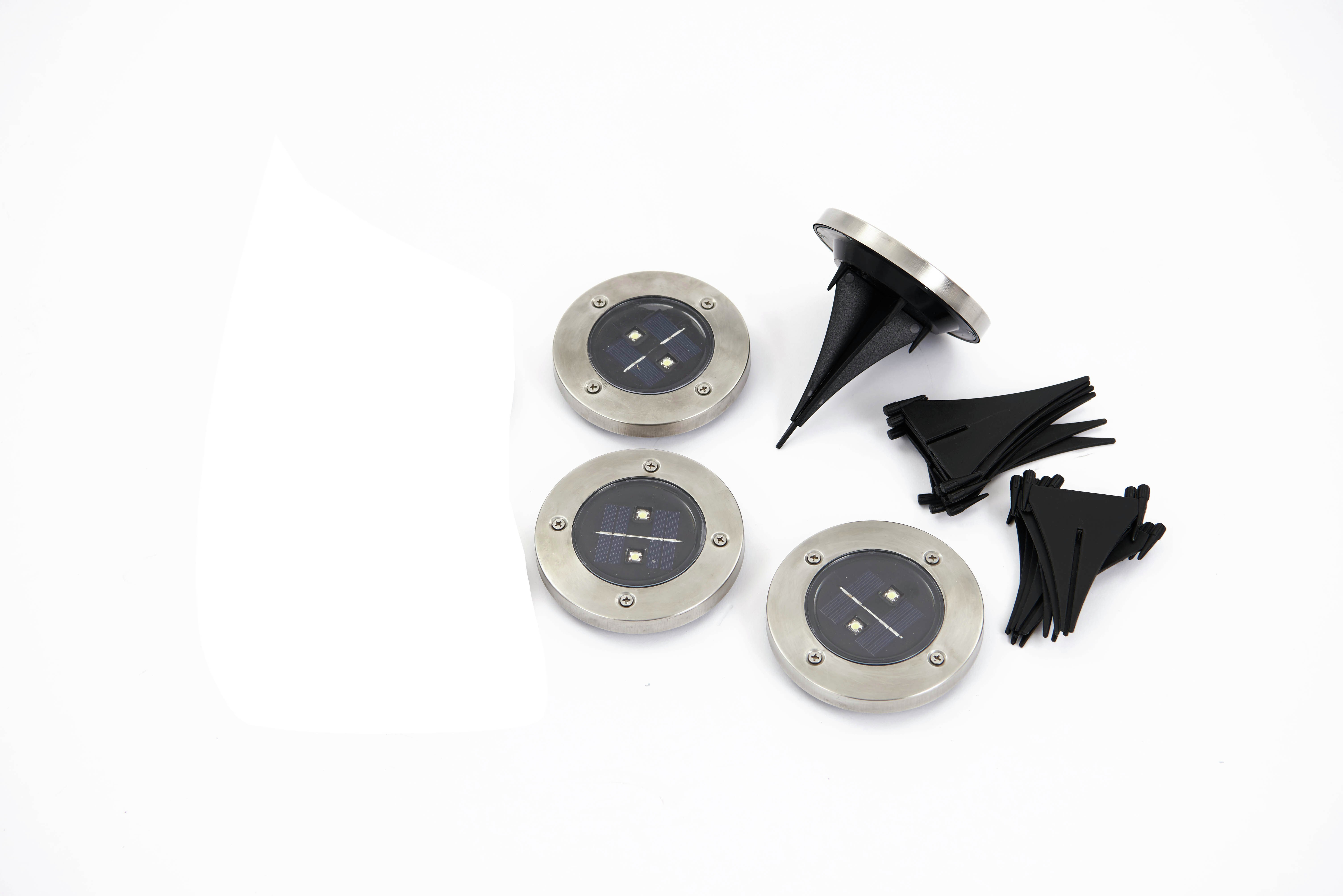 powertek  solar led  floor lights  set of 4