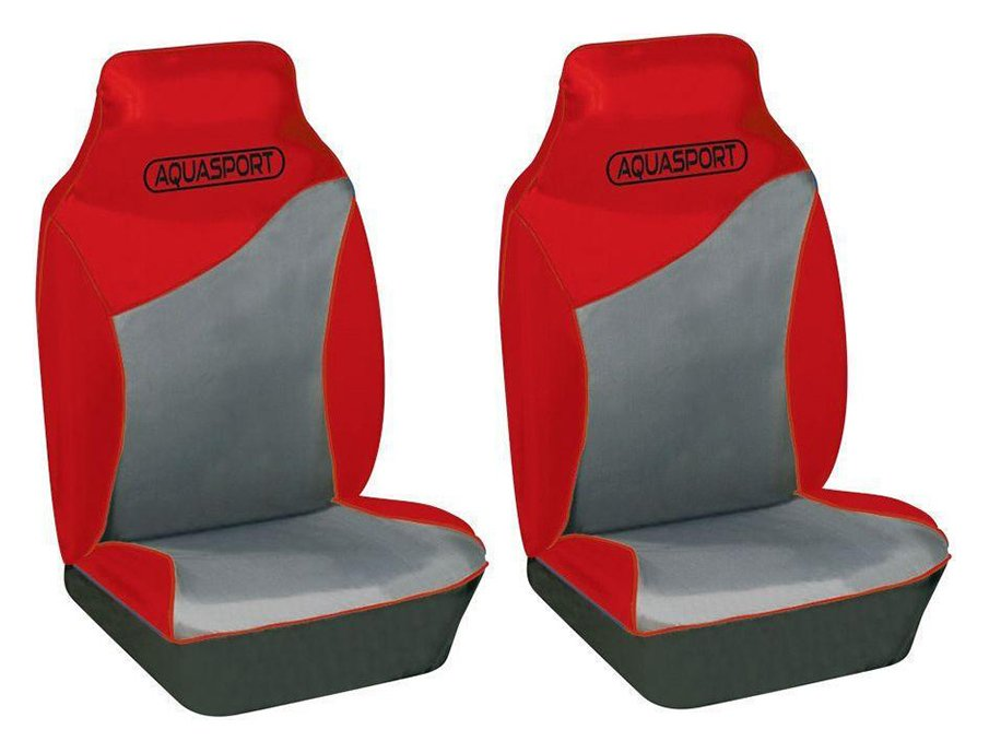 Image of Cosmos Aquasport Water Resistant Front Seat Covers - Red.