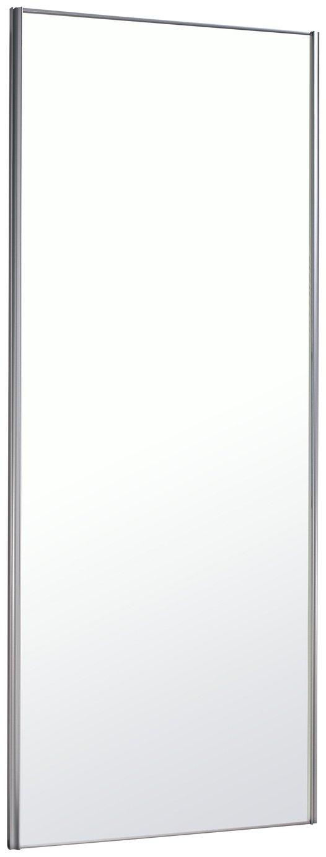Sliding Wardrobe Door W61mm Silver Frame Mirror
