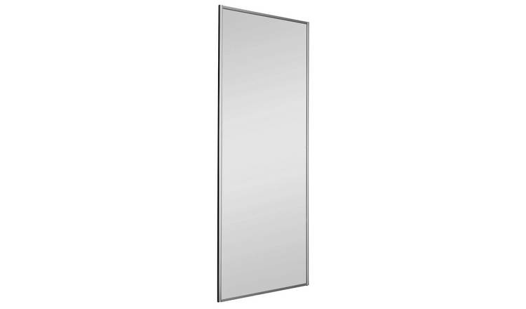 Sliding Wardrobe Door W762mm Silver Frame Mirror