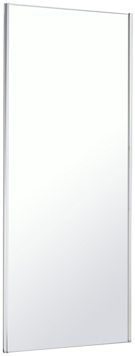 Sliding Wardrobe Door W762mm White Frame Mirror