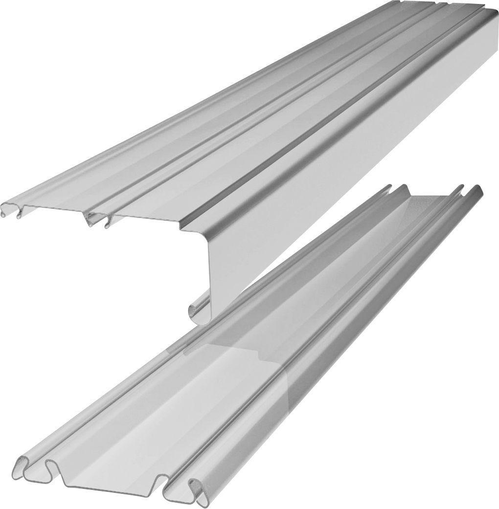 White Trackset for Sliding Wardrobe Doors- 142 Inch
