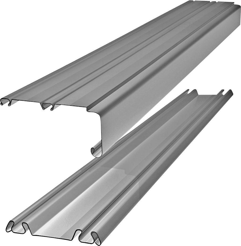 Image of Silver Trackset for Sliding Wardrobe Doors - 142 Inch.