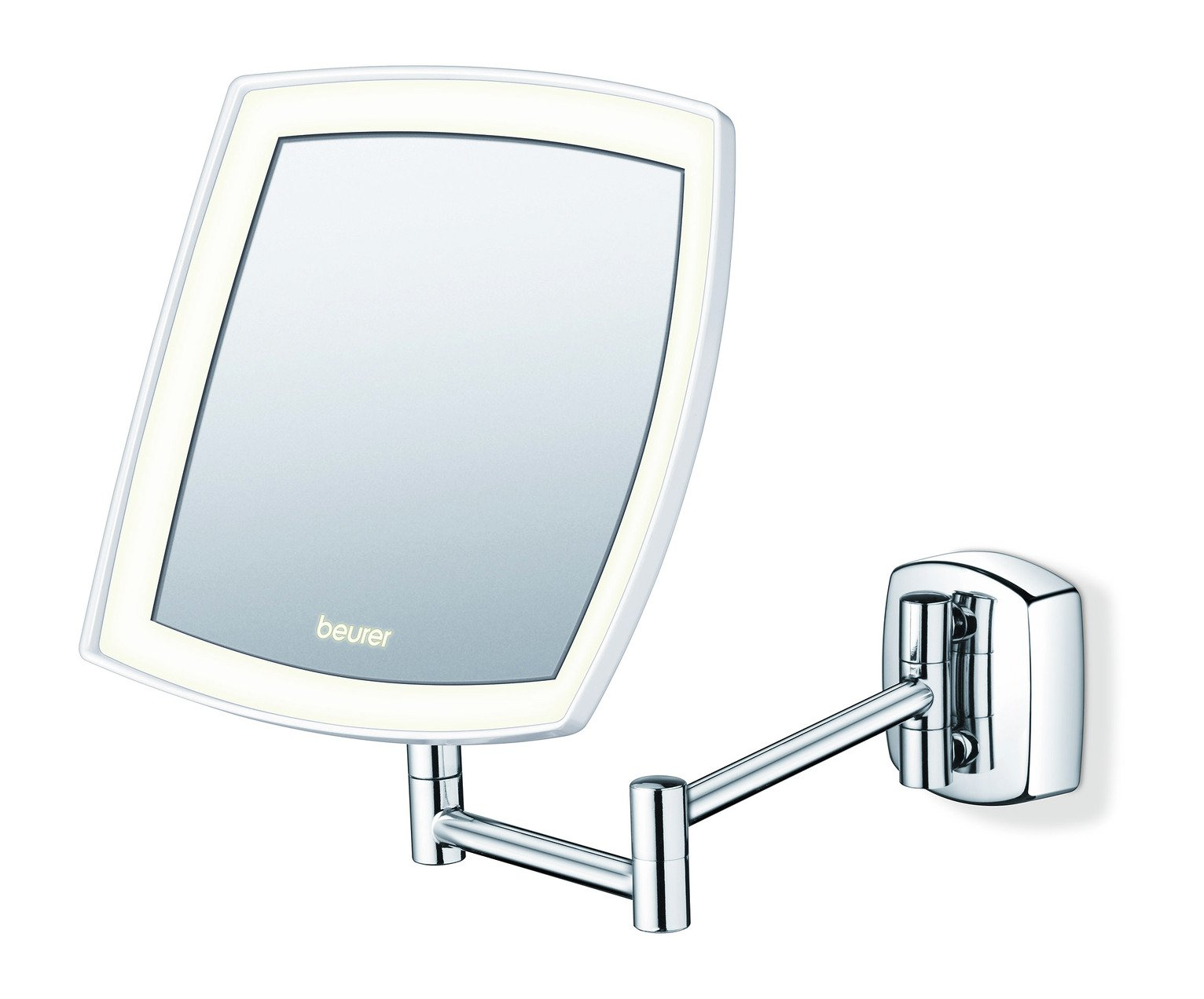 Chrome Wall Mirror buy beurer bs89 illuminated led wall mirror - chrome at argos.co