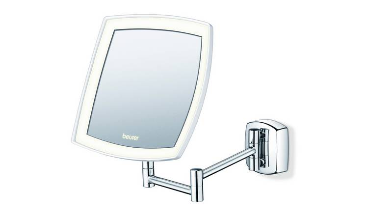 Beurer BS89 Illuminated LED Wall Mirror - Chrome.