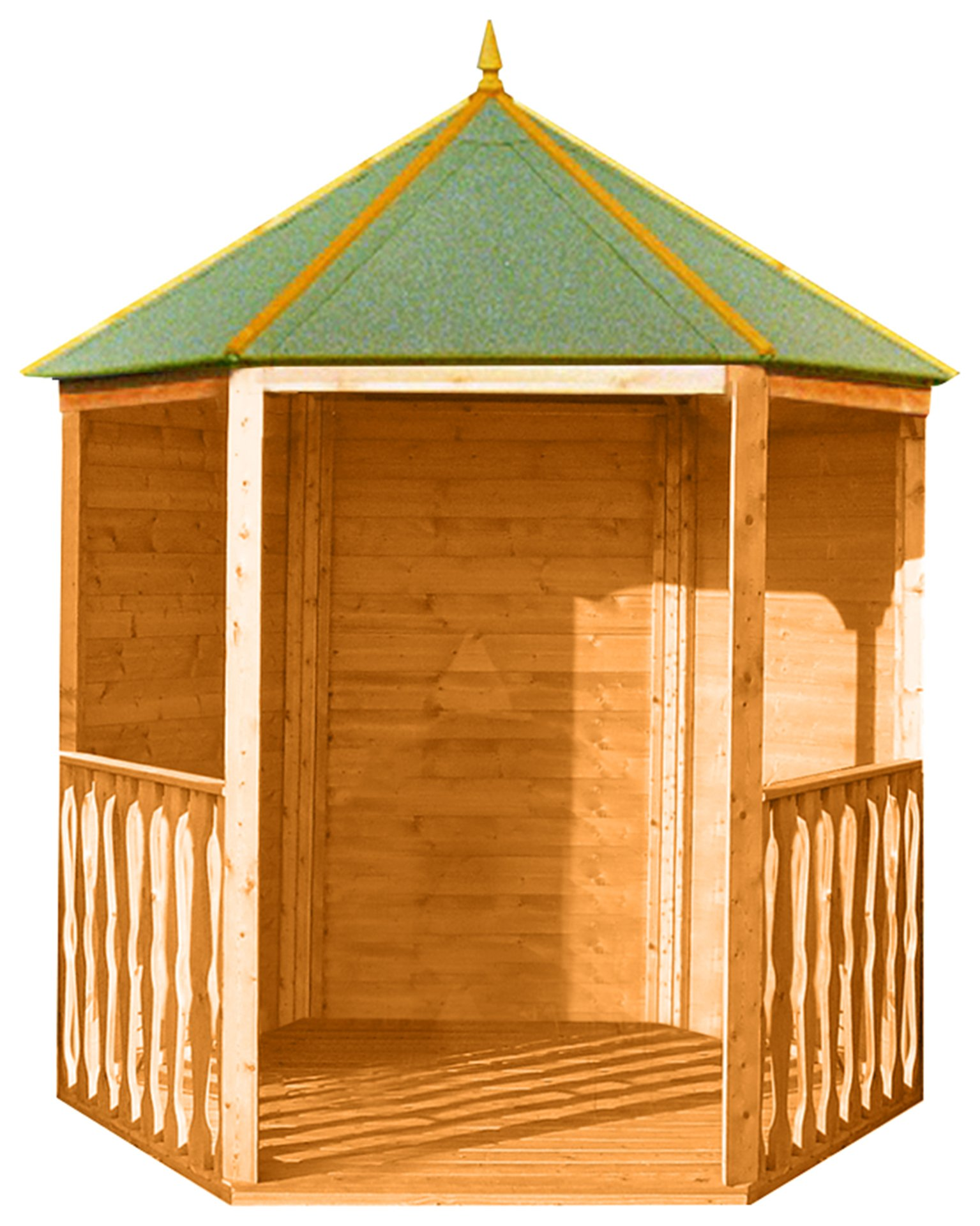 homewood 6 x 7ft hexagonal gazebo summer house. Black Bedroom Furniture Sets. Home Design Ideas