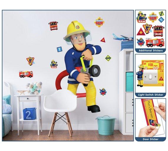 buy walltastic fireman sam large character sticker | murals and wall