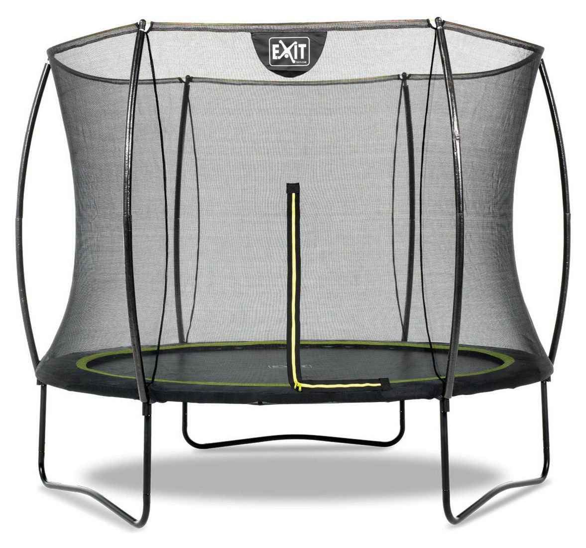 EXIT 8ft Black Edition Trampoline with Enclosure