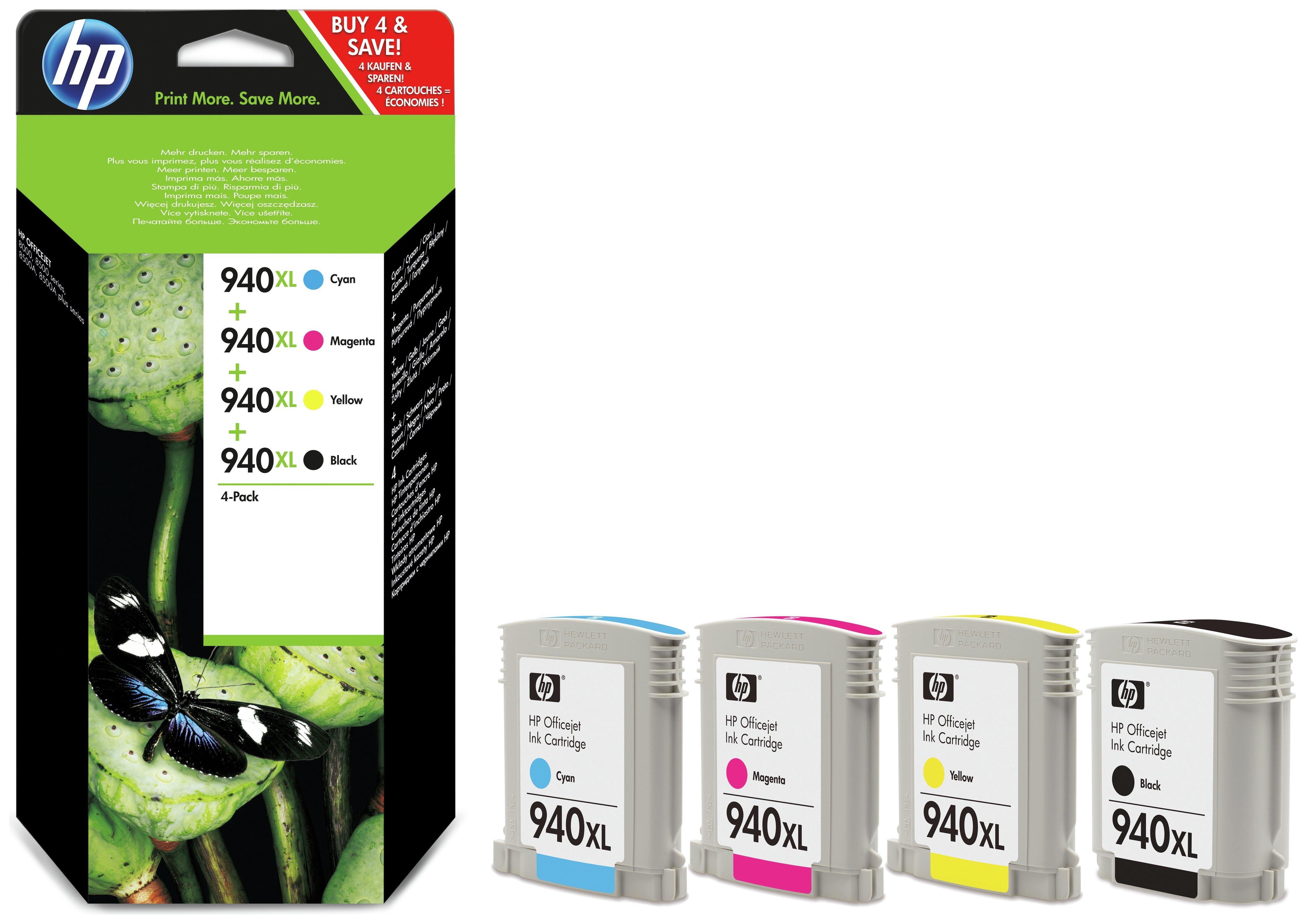 HP 940XL Black/Tri Colour Ink Cartridge Pack.