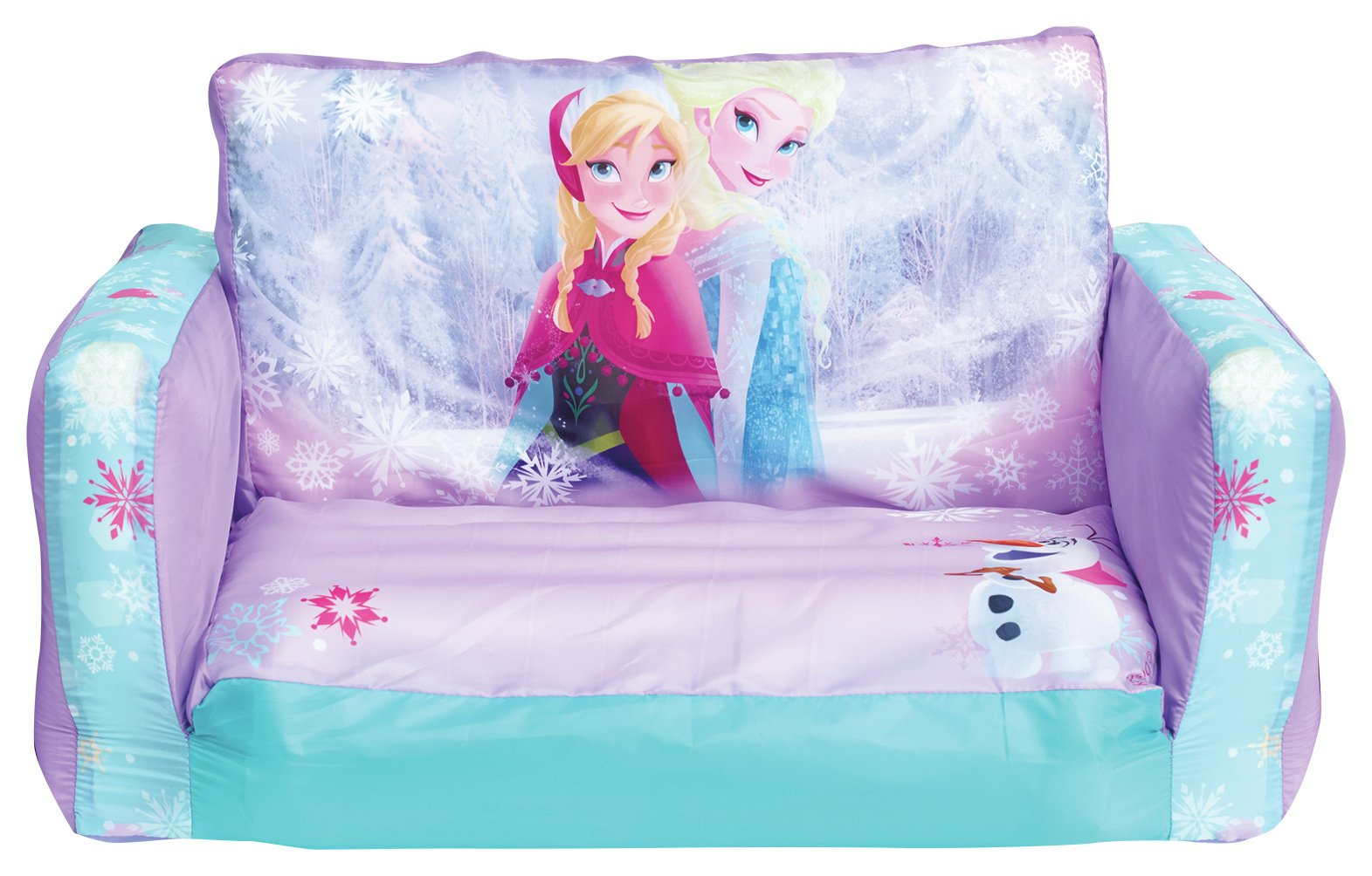 Image of Disney Frozen 2 in 1 Inflatable Sofa.