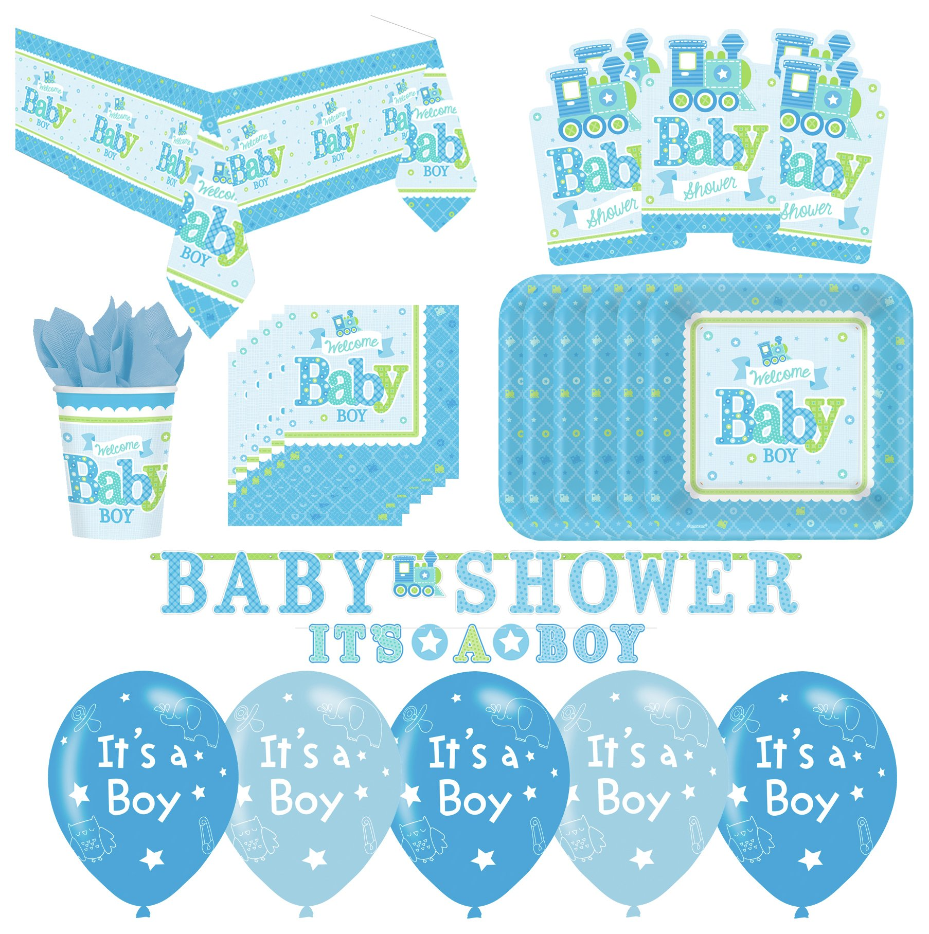 Image of Baby Shower Party Pack Blue