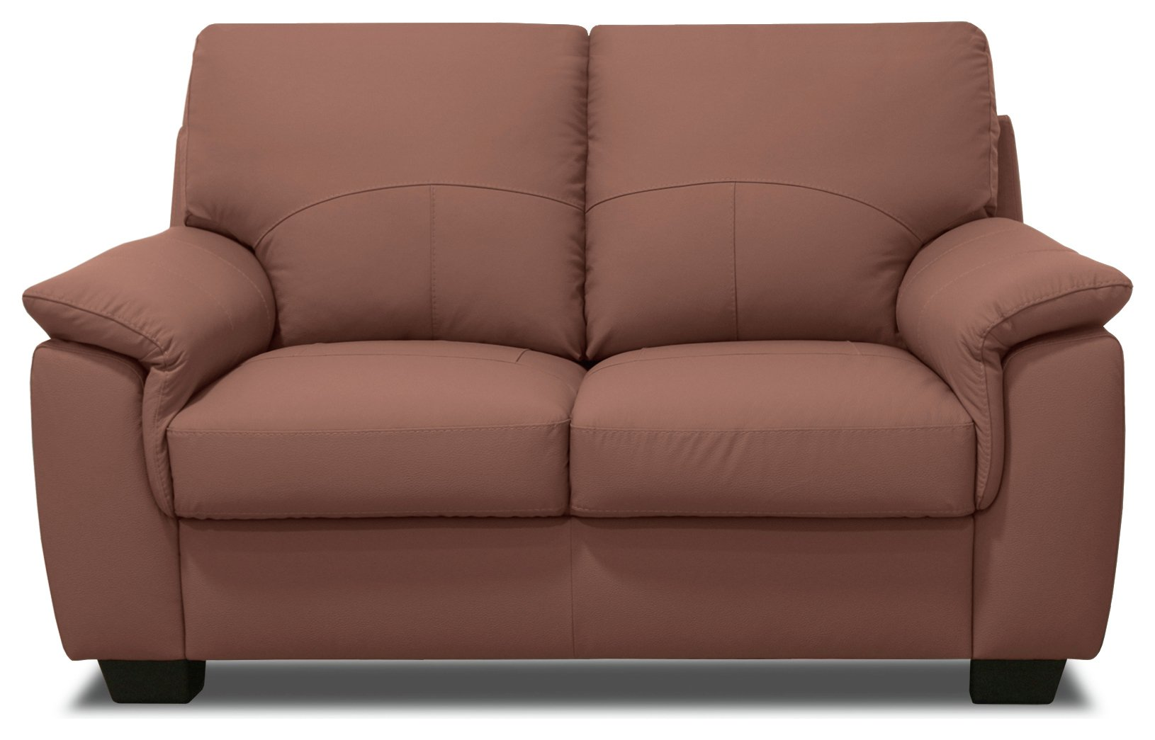 Image of HOME - Lukah 2 Seater - Leather Sofa - Tan