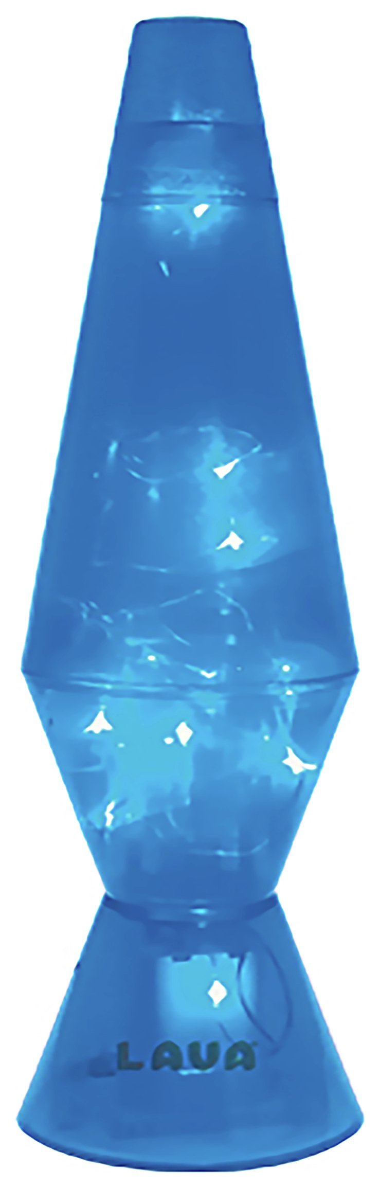 Image of Blue LED Twinkle Lava Lamp.