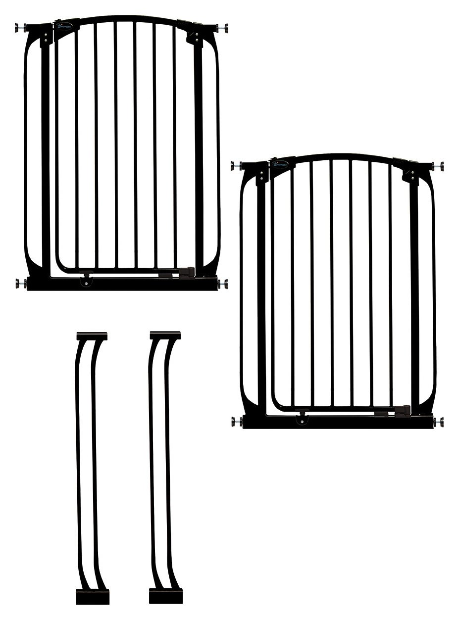 Dreambaby - Black Chelsea Saftey Gate Extension - 2 Pack