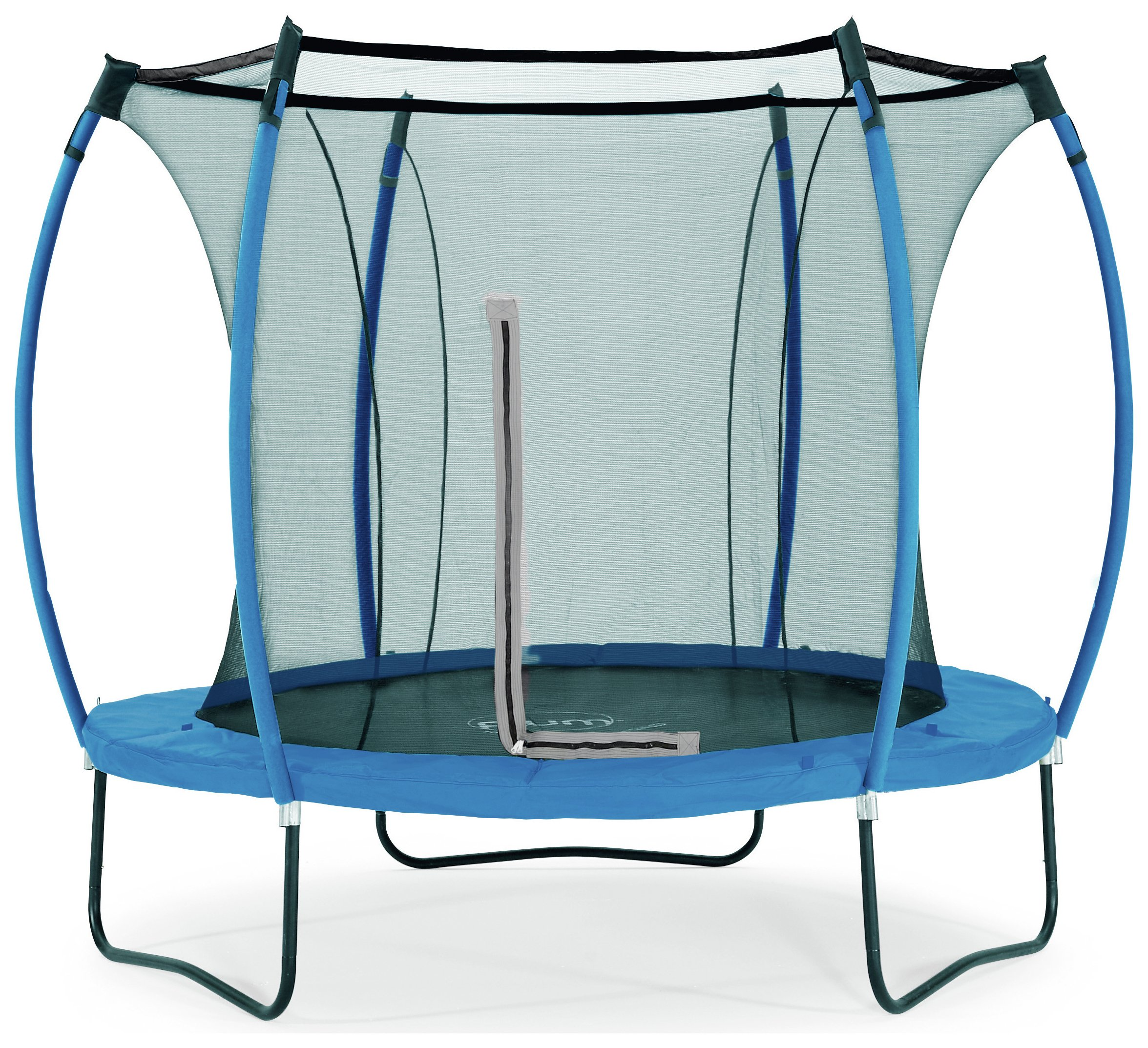 colours by plum 8ft trampoline  blue/ lime.