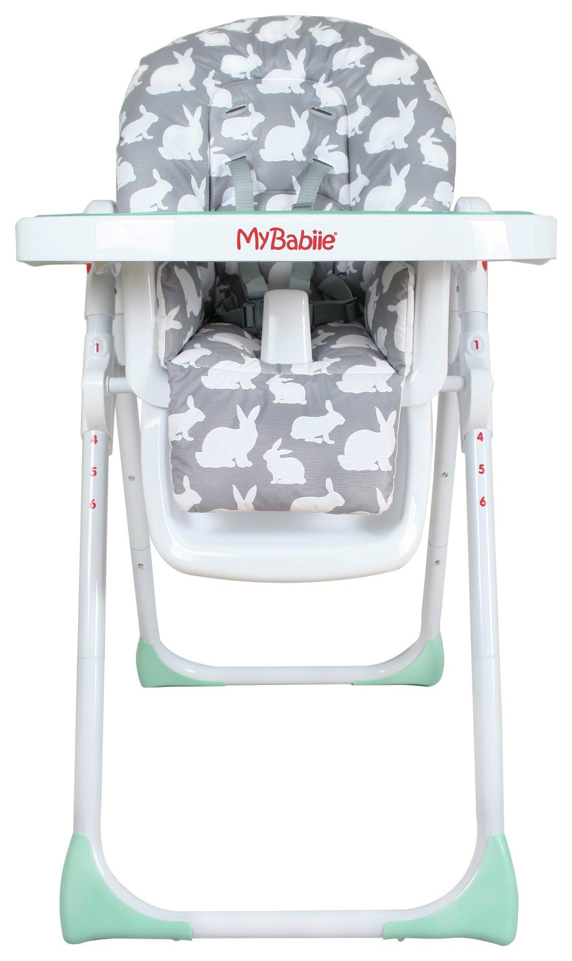My Babiie MBHC8GR Grey Rabbits Highchair
