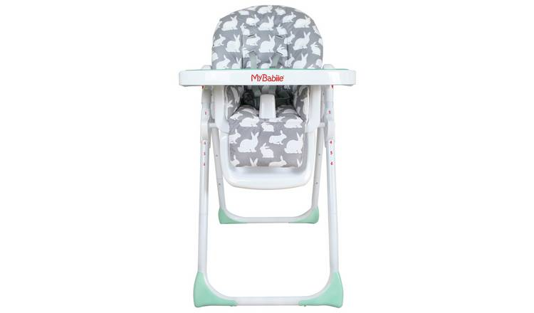 My Babiie MBHC8GR Grey Rabbits Highchair.