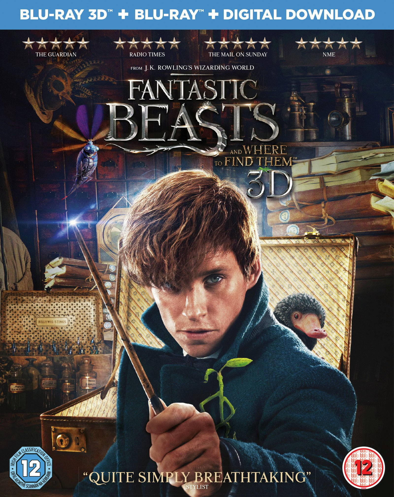 Fantastic Beasts and Where to Find Them 3D DVD.
