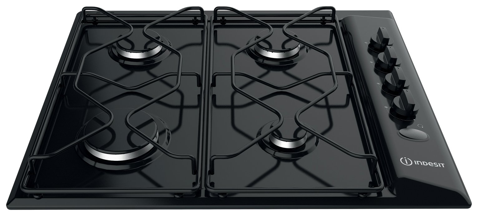 Indesit - PAA642/I - Gas Hob - Black