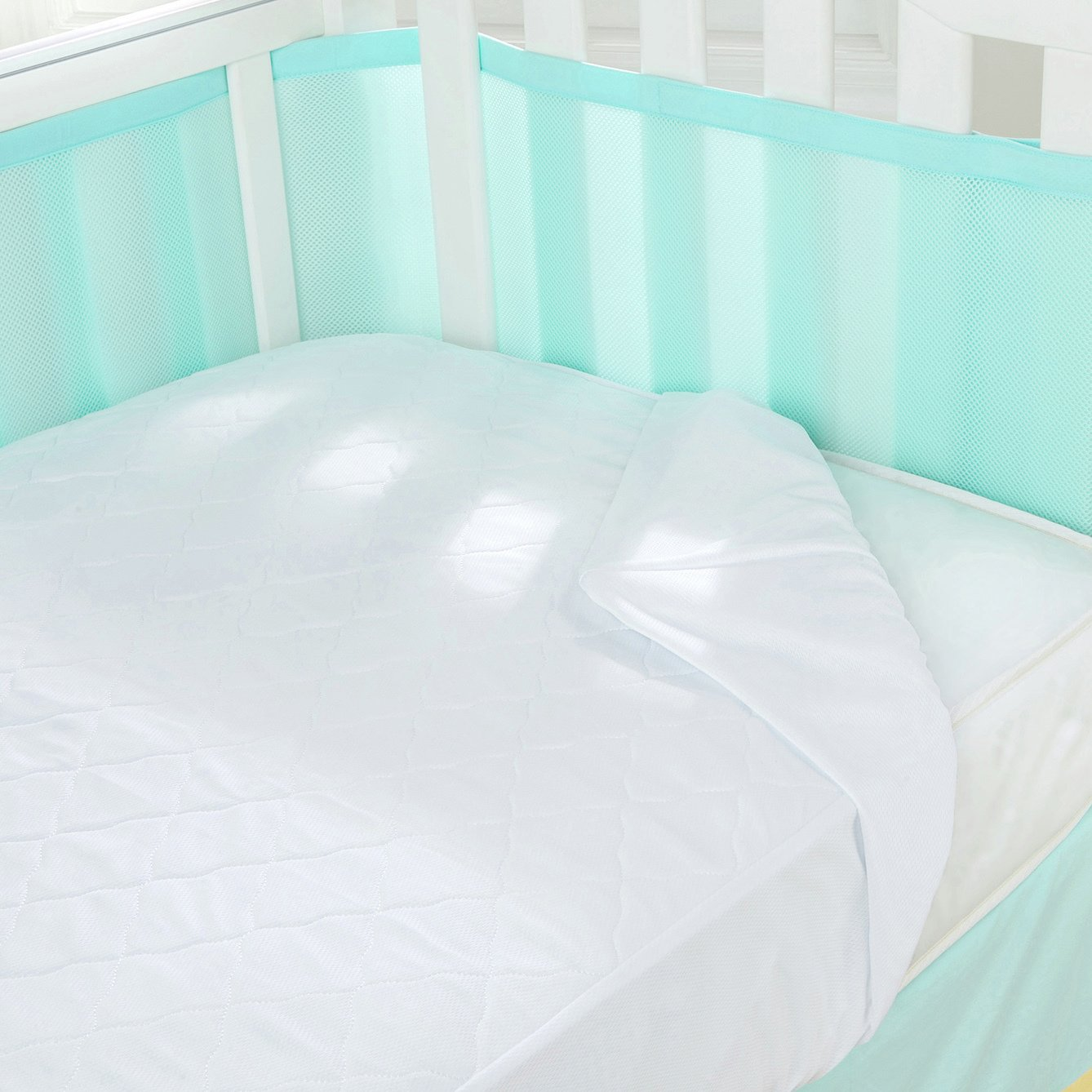 Image of BreathableBaby 3-in-1 Fitted Mattress Pad.