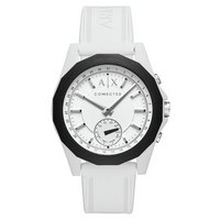 Armani Exchange Connected White Silicone Hybrid Smart Watch