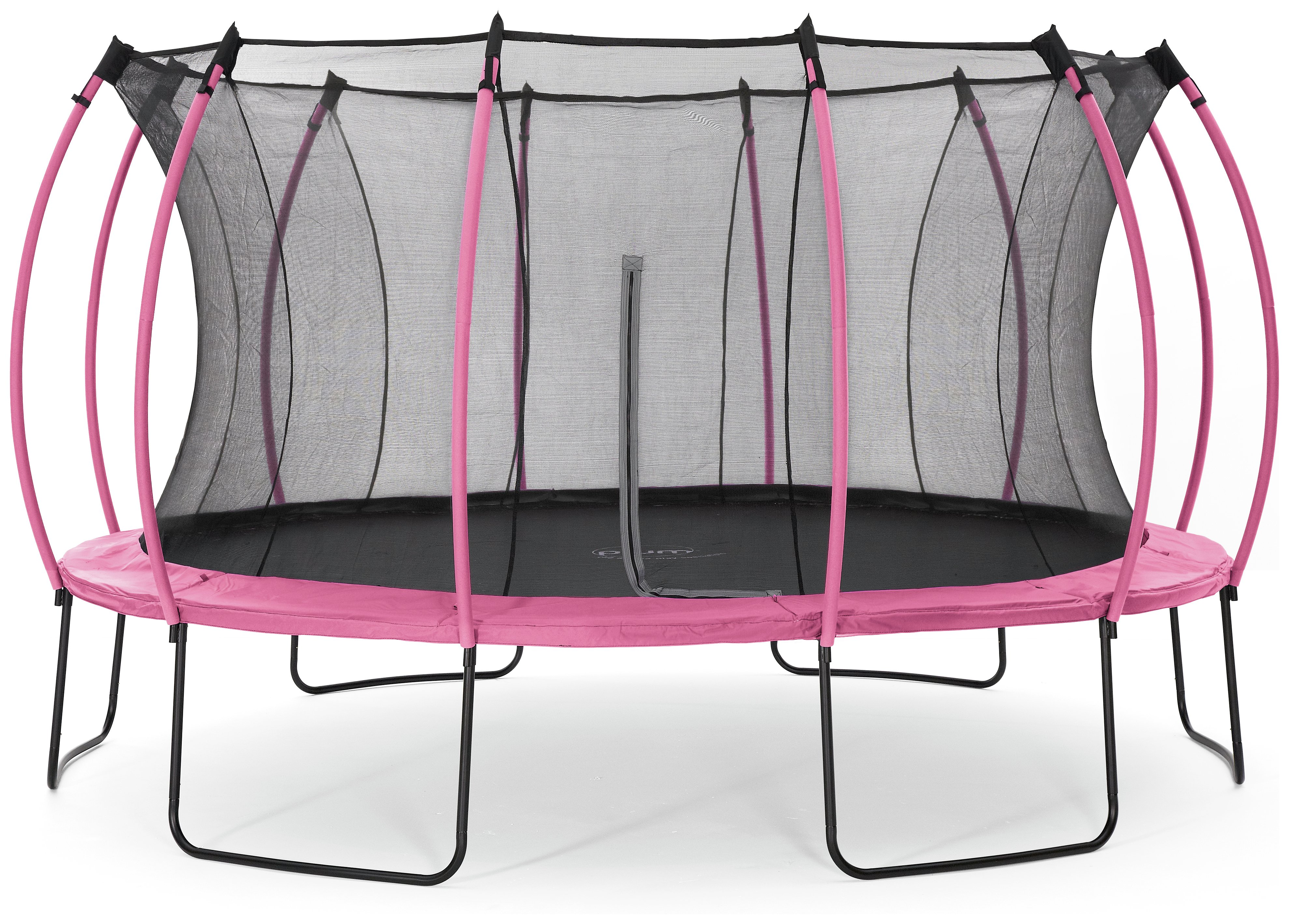 colours by plum 14ft trampoline  pink / turquoise.