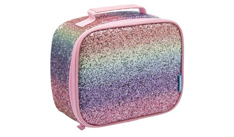 Rainbow Crunch Glitter Lunch Bag